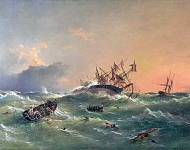 The wreck of HMS Orpheus