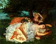 Gustave Courbet - Young Ladies on the Bank of the Seine
