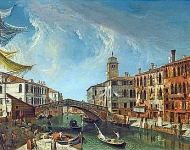 Venice, view of the cannaregio, looking towards the grand canal