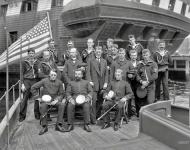1898. U.S.S. Free Lance  officers and crew.This patrol vessel, a converted steam yacht, was loaned to the Navy for service in the Spanish-American War
