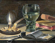 Still Life with Lighted Candle