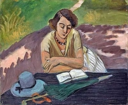 Reading Woman with Parasol
