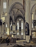 Interior of a Gothic Protestant Church