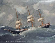 The ship Thomas Hilyard in a gale