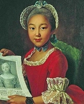Portrait of Kalmyk Girl Annushka