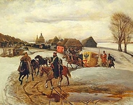 The spring pilgrimage of the Tsarina, under Tsar Aleksy