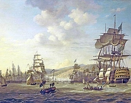 The Anglo-Dutch Fleet in the Bay of Algiers in Support of the Ultimatum for the Release of the White Slaves, 26 August 1816