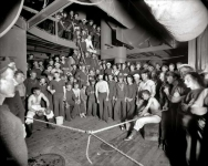 Aboard the U.S.S. Oregon circa 1897. Waiting for the gong