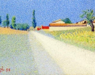 Achille Lauge - Road in Champagne