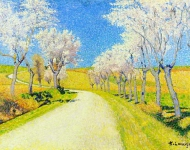 Achlle Lauge - Road with Flowering Almond Trees