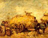 Adolphe Monticelli - The Hayfield
