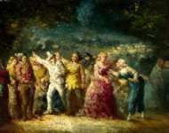 Adolphe Monticelli - Torchlight Procession