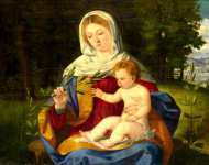 Andrea Previtali - The Virgin and Child with a Shoot of Olive