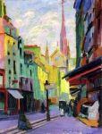 Auguste Herbin - The Place Maubert in Paris
