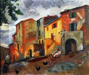 Charles Camoin - Village Street Collioure