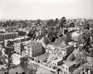 Circa 1899. General view, Los Angeles. The righthand section of a three-part panoramic series.