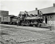 Circa 1899. Tracy, Minnesota -- engine of the South Dakota division, Chicago North-Western R.R.