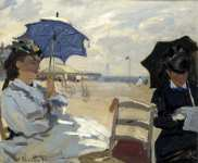 Claude-Oscar Monet - The Beach at Trouville