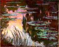 Claude-Oscar Monet - Water-Lilies, Setting Sun