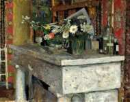 Edouard Vuillard - The Mantelpiece (La Cheminee)