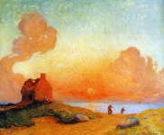 Ferdinand du Puigaudeau - Sunset by the Sea Brittany -