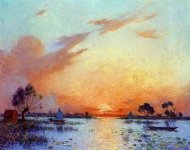 Ferdinand du Puigaudeau - Sunset in Briere