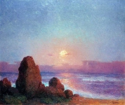 Ferdinand du Puigaudeau - Sunset of the Breton Coast
