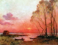 Ferdinand du Puigaudeau - Sunset on the Briere