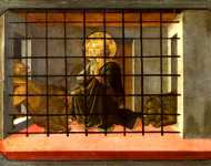 Fra Filippo Lippi and workshop - Saint Mamas in Prison thrown to the Lions