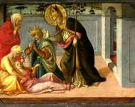 Fra Filippo Lippi and workshop - Saint Zeno exorcising the Daughter of Gallienus
