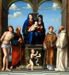 Francesco Francia - The Virgin and Child with Saint Anne and Other Saints