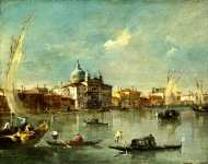 Francesco Guardi - Venice - The Giudecca with the Zitelle