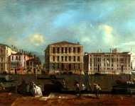 Francesco Guardi - Venice - The Grand Canal with Palazzo Pesaro
