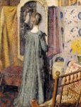 Georges Lemmen - Woman Standing in Front of the Mirror (aka Madame Georges Lemmen)