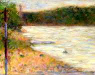 Georges Seurat - A River Bank (The Seine at Asniиres)