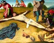 Gerard David - Christ Nailed to the Cross