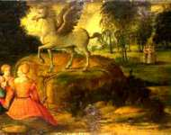 Girolamo Romanino - Pegasus and the Muses