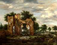 Jacob van Ruisdael - A Ruined Castle Gateway
