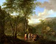Jan Both and Cornelis van Poelenburgh - A Landscape with the Judgement of Paris