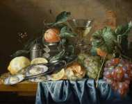 Jan Davidsz de Heem - Still Life with Oysters and Grapes