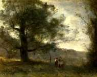 Jean-Baptiste-Camille Corot - The Oak in the Valley