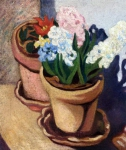 Louis Valtat - Two Flower Pots Cactus Flowers and Hyacynths
