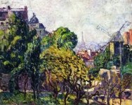 Louis Valtat - View of Moulin de la Galette and the Eiffel Tower -