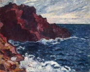 Louis Valtat - Violet Rocks (Sea Tide)