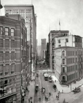 Pittsburgh Pennsylvania circa  Wood Street from Liberty Avenue