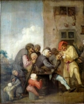The Village Charlatan (The Operation for Stone in the Head) by Adriaen Brouwer, The Hermitage