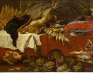 Vos Pauwel Paul de Still Life with Dead Game and Lobster - Hermitage