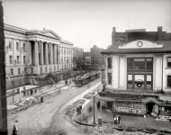 Washington DC circa  Ninth and G Streets With a view of the US Patent Office