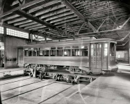 Washington DC circa  Capital Traction Company trolley in car barn