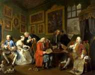William Hogarth - Marriage A-la-Mode - 1, The Marriage Settlement